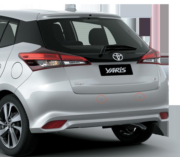 Cảm biến phát âm thanh khi gập vận cản khi lùi - Toyota Yaris: giá xe và khuyến mãi tháng [hienthithang]/[hienthinam]