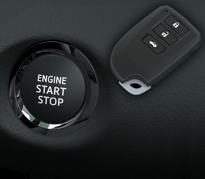 Chìa khóa thông minh và khởi động nút bấm xe Yaris 2019 - Yaris 2020: giá xe và khuyến mãi tháng [hienthithang]