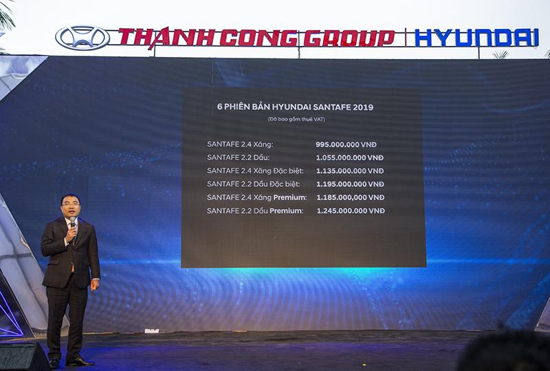 Hyundai Santafe 20 - Hyundai Santafe mới: giá xe và khuyến mãi tháng [hienthithang]/[hienthinam]