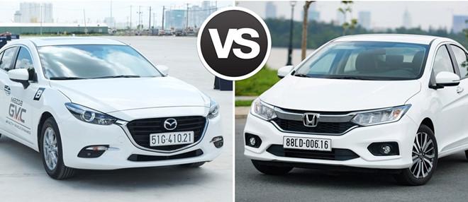 so sanh mazda 3 va honda city tai muaxegiabeo - So sánh Honda City và Mazda 3: Đi cá nhân nên mua xe nào hợp lý