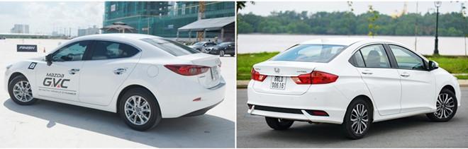 so sanh mazda 3 va honda city tai muaxegiabeo 3 - So sánh Honda City và Mazda 3: Đi cá nhân nên mua xe nào hợp lý