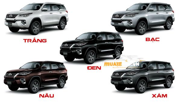 Mau xe Fortuner - Toyota Fortuner 2020: giá bán và khuyến mãi mới nhất